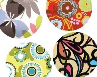 Mod Flora - (1x1) One Inch Round Pendant Images - Digital Sheet - BUY 2 GET 1 FREE