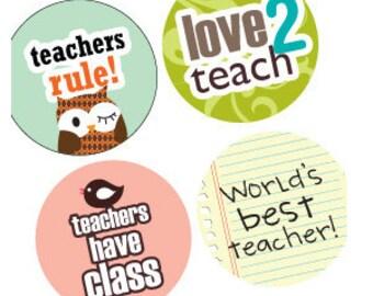 One (1x1) Inch Round Pendant Images - Digital Sheet - Teacher's Pets