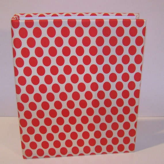 First Impressions Binder ... Red and White Polka Dots ... 7 x 9.5 inch