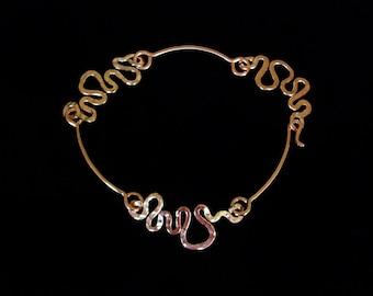 Celtic Triad Bracelet Hammered Solid Copper