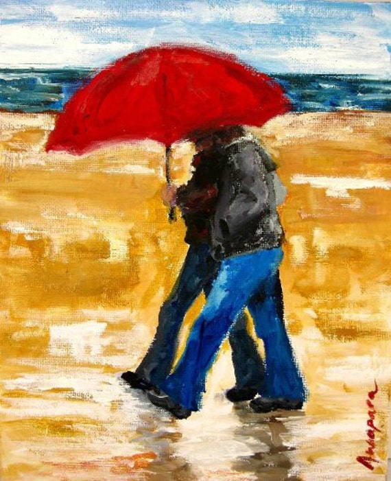 Valentine Gift Love Rain Umbrella Red Umbrella Couple