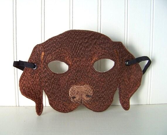 Chocolate Lab Puppy Dog Halloween Mask for Children