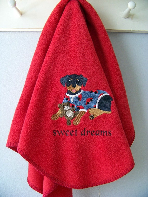 Rottweiler Sweet Dreams Doggy Blanket