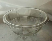 Depression Glass Mixing Bowl Crisscross by Hazel Atlas