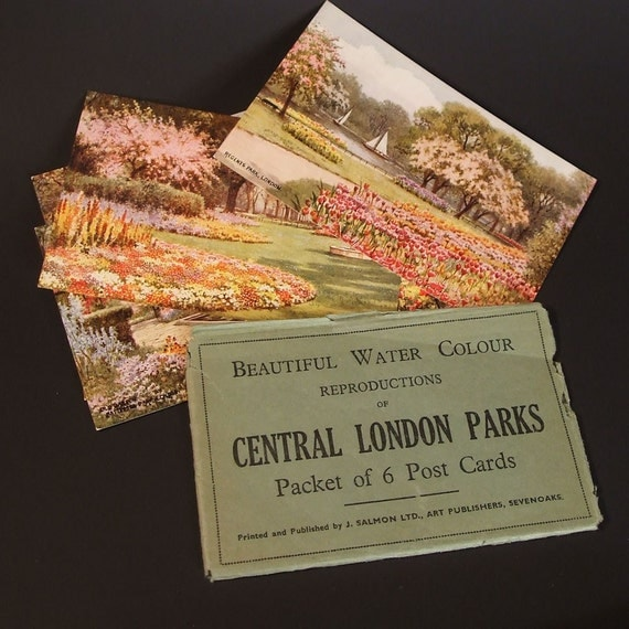 Central London Parks Postcard Packet  WWll