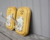 French Farmhouse Yellow Wall Hooks