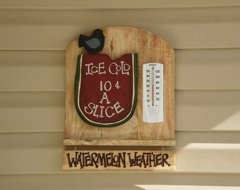 wood oudoor thermometer