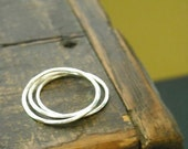 Three Everyday Stacking Rings Sterling- Free Shipping