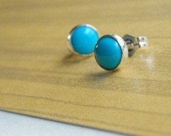 Turquoise and Sterling Post Earrings- Free Shipping