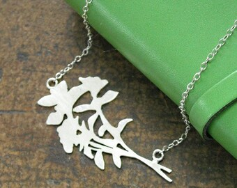 Sterling Flower Bouquet Necklace- Free Shipping