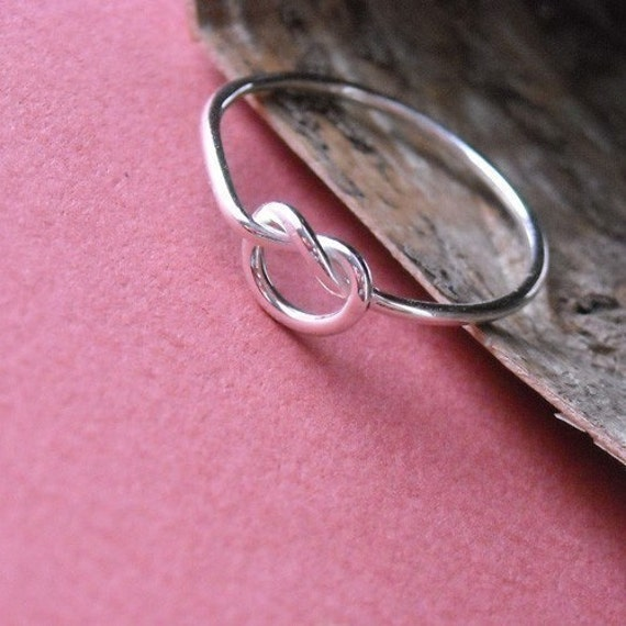 Love Me Knot Sterling Ring- Free Shipping