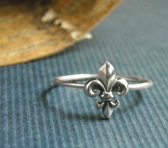 Sterling Fleur De Lis Ring- Free Shipping