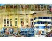 Yankee Stadium, Bronx, New York Art -- Watercolor Print - Man Cave - College Dorm