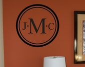 Family Monogram Wall Decal - Wedding Decal - Personalized wall decal - personalized monogram - family name monogram - Vinyl Wall Decal