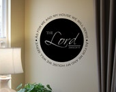 As for me and my house...serve the Lord - vinyl wall decal