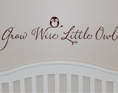 Wise Little Owl - Vinyl Wall Decal