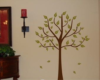 Vinyl Wall Decal -Tree with Leaves