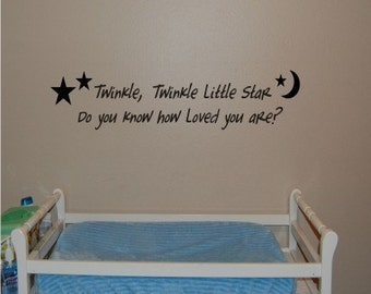 Twinkle, twinkle little star - Vinyl wall decal