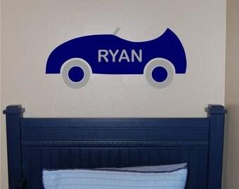 Race Car Wall Decal - Car Wall Decal - Nursery Wall Decal - Car Decal - Car Bedroom - Transportation Bedroom decal - Car Vinyl Wall decal