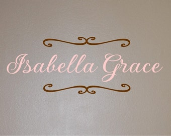 Isabella Monogram - Vinyl Wall Decal