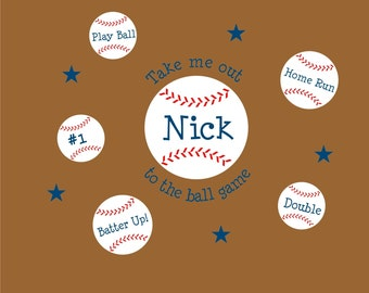 Take Me Out to the Ball Game - Vinyl Wall Decal
