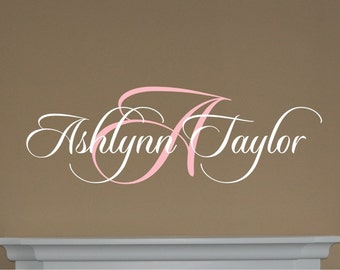 Ashlynn Name with Initial - Vinyl Wall Decal
