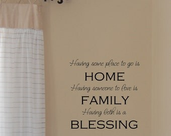 Blessing - Vinyl Wall Decal
