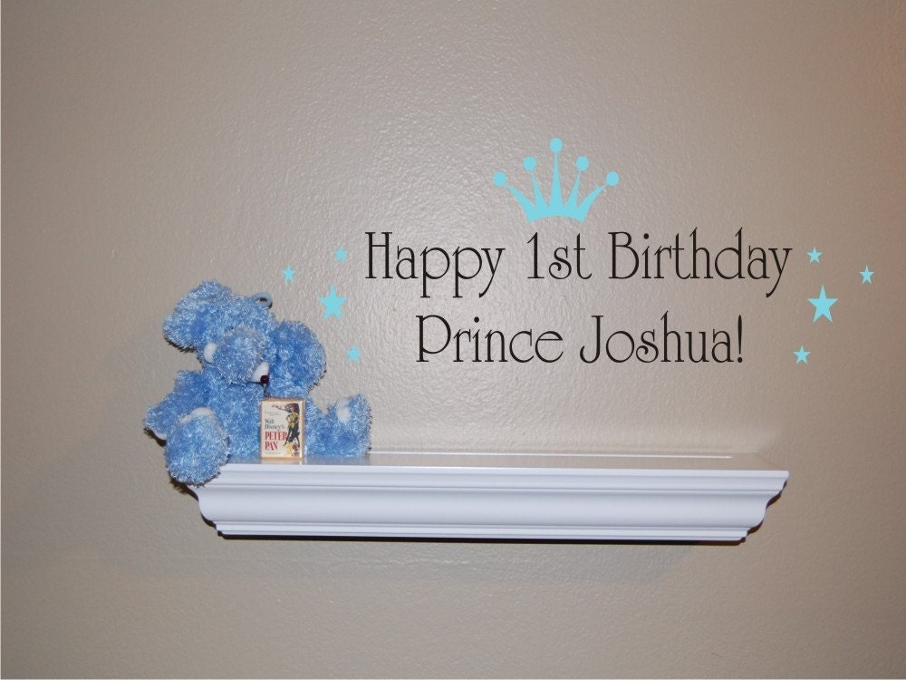 Happy Birthday Prince Vinyl Wall Decal