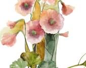 Original Watercolor - Sweet Flowers