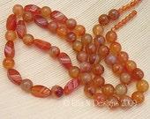 Carnelian bead set, long strand