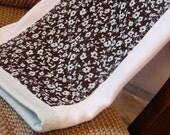 Chocolate Teal - Wipe a Do - GAUZE Burp Cloth ----FREE SHIPPING----