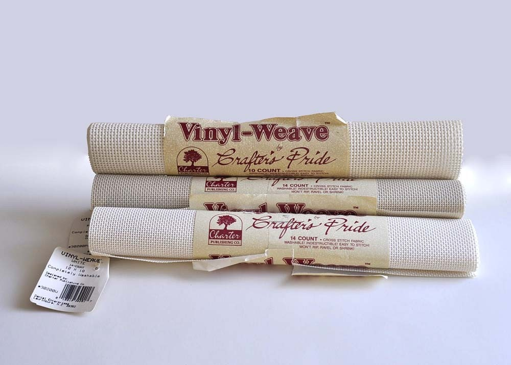 Vinyl Weave Cross Stitch Fabric By Crafters By