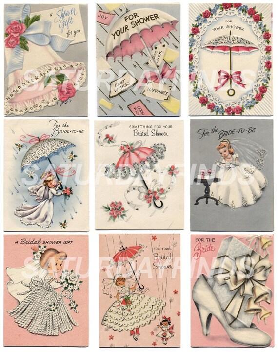 vintage greeting card bridal shower no. 1 of 1 vintage