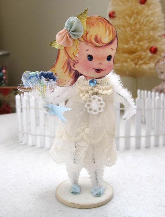 Vintage Inspired SuGaR SwEeT Flower Girl Paper Posy Doll - Gift of Love