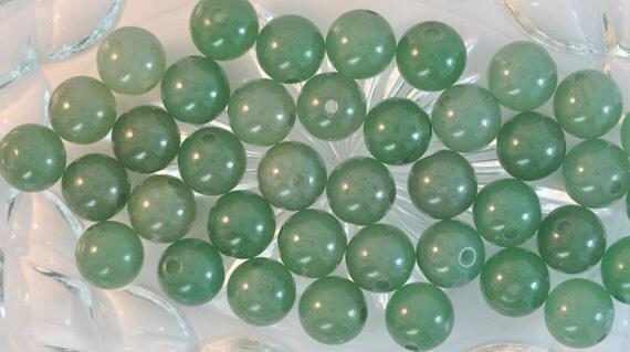 Green Aventurine 10mm Round Beads A126