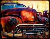 Miss Jasmine Take Two - Rusty Old Car - Oldsmobile - Fine Art Photograph by Kelly Warren