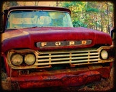 Jack - Rusty Truck - Ford - Garage Art - Fine Art Photograph by Kelly Warren