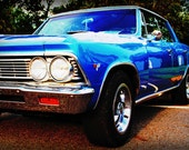 1966 Blue Chevrolet Chevelle - Classic Car - Garage Art - Pop Art - Fine Art Photograph