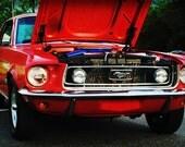 1967 Ford Mustang - Classic Car - Garage Art - Pop Art - Fine Art Photograph by Kelly Warren