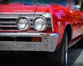 1966 Chevrolet Chevelle - Classic Car - Chevy - Garage Art - Pop Art - Fine Art Photograph