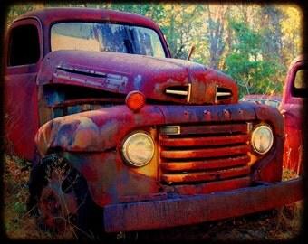 Bobby Joe - Rusty Old Truck - Old Ford Truck - Fine Art Photograph by Kelly Warren