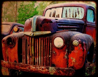 Old Hank - Rusty Old Car - Ford - Fine Art Photograph by Kelly Warren