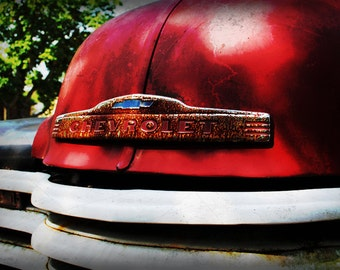 1947 Chevrolet Firetruck Front Emblem - Classic Truck - Garage Art - Pop Art - Fine Art Photograph