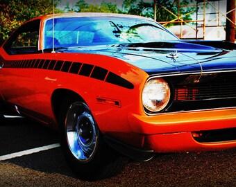 1970 AAR Plymouth Barracuda - Classic Car - Garage Art - Pop Art - Fine Art Photograph by Kelly Warren
