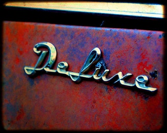Jenny's Deluxe Take Two - Rusty Old Car Emblem - Fine Art Photography