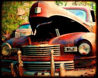 Mr. Newman - Rusty Old Car - Nash - Garage Art - Fine Art Photograph by Kelly Warren