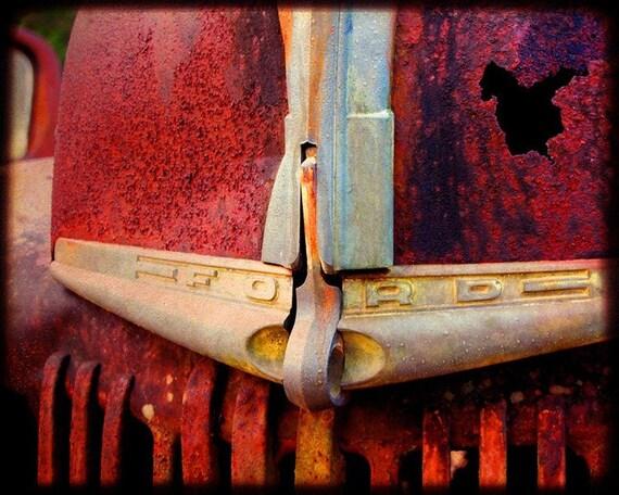 Old Hank's Emblem - Rusty Old Truck Emblem - Fine Art Photography