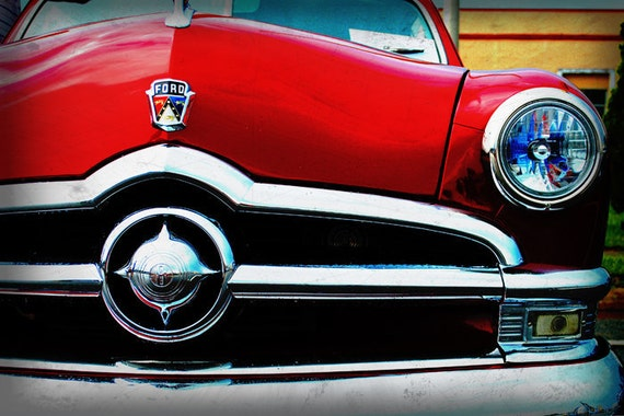1950 Classic Ford  - Classic Ford - Garage Art - Pop Art - Fine Art Photograph
