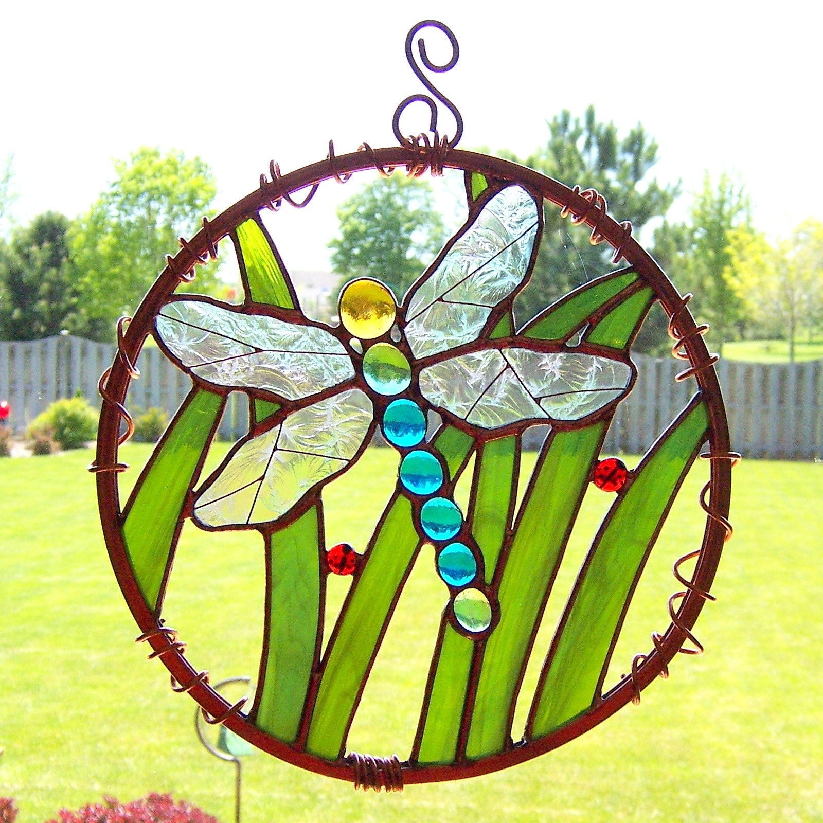 Stained Glass Dragonfly Garden Art By GoodGriefGlass On Etsy