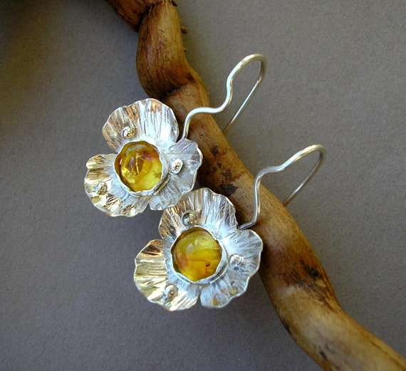 Earrings with Baltic Amber